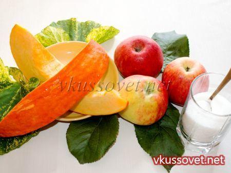 Тыквенно-яблочное пюре - рецепт пошаговый с фото
