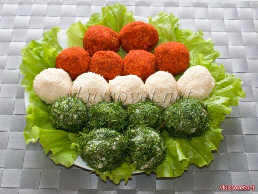 Сырные шарики с маслинами, пошаговый рецепт с фото