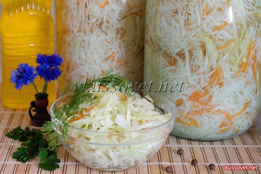 Капуста в маринаде на зиму (салатная)