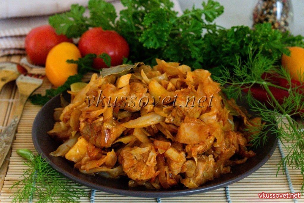 Рагу из капусты и картофеля с мясом
