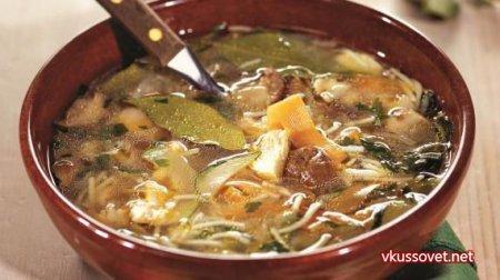 Грибной суп из сушеных грибов рецепт с пошагово