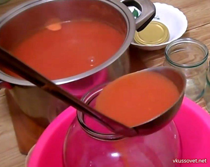 томатный сок рецепт в домашних условиях из помидор на зиму