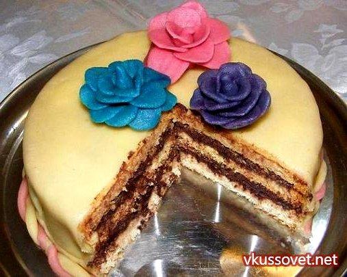 Марципановые торты рецепт с фото