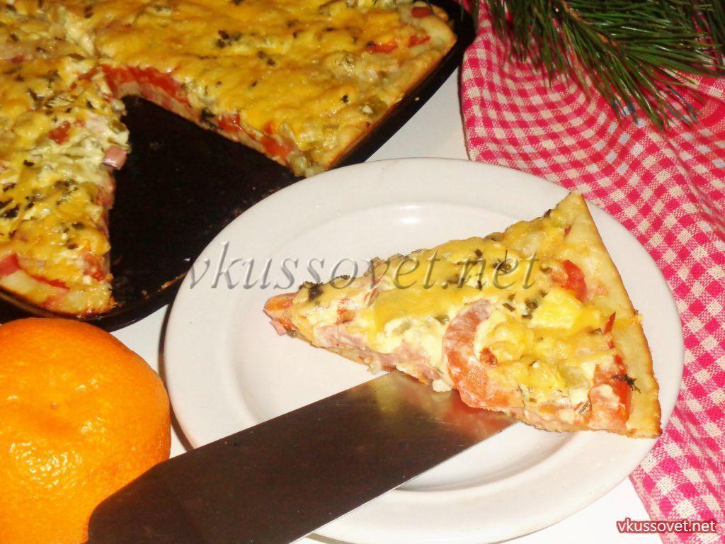 как сделать толстое тесто для пиццы рецепт