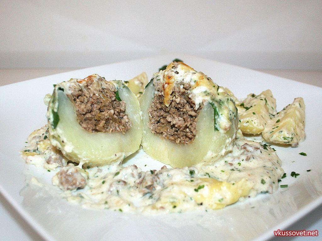 Фаршированные кольраби с картофелем