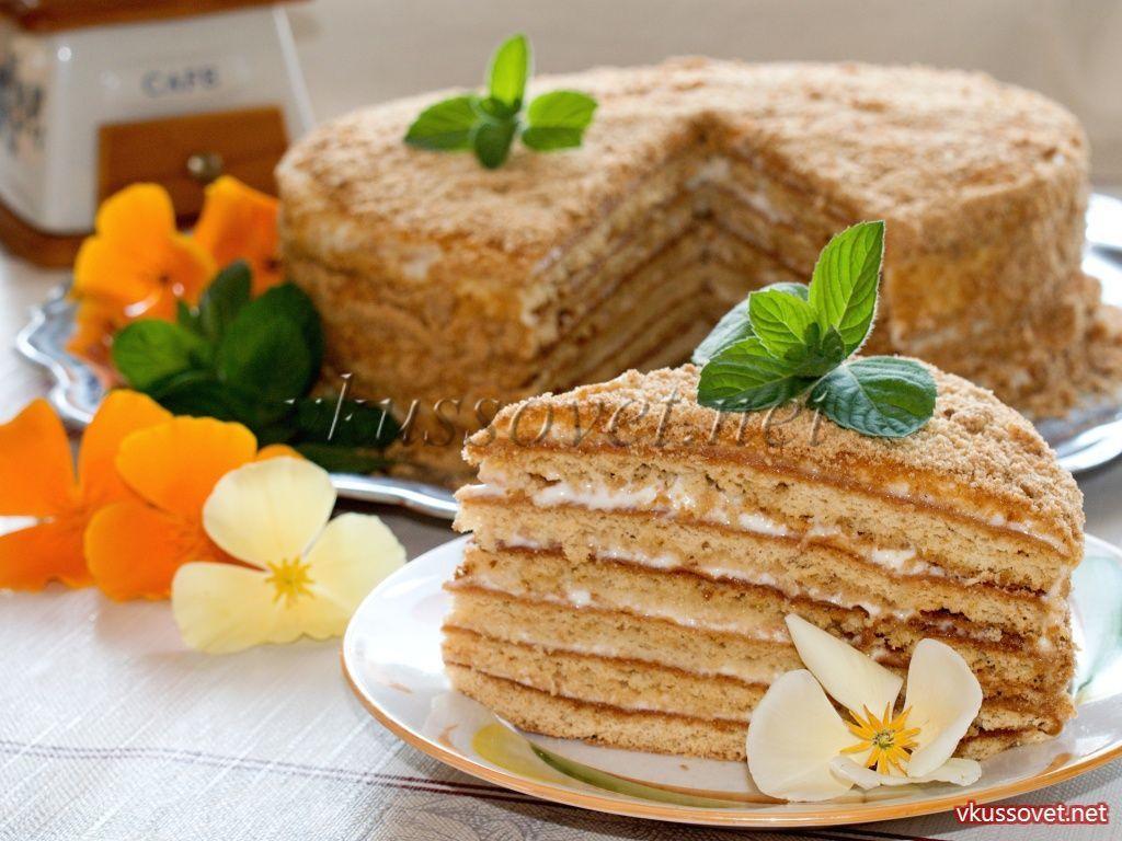 торт из сметаны с заварным кремом рецепт с фото