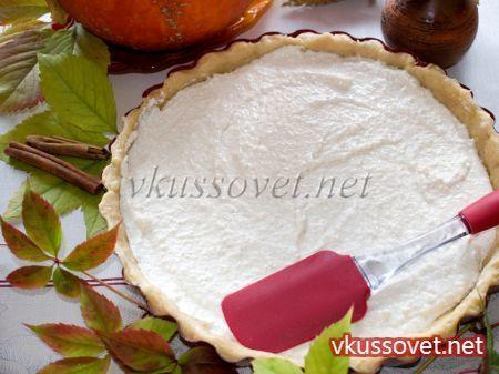 Творожно – тыквенный пирог из песочного теста