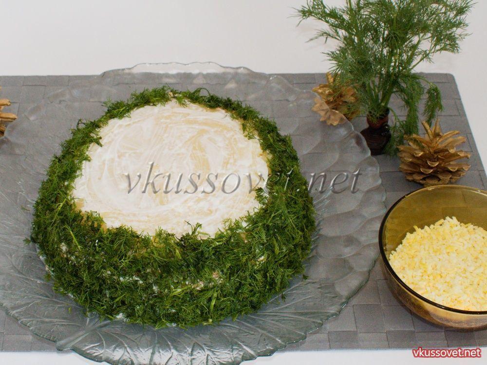 Мимоза с маслом и сыром пошаговый рецепт