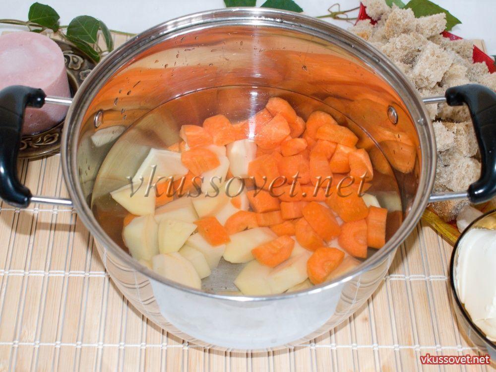 крем суп с гренками рецепт с фото