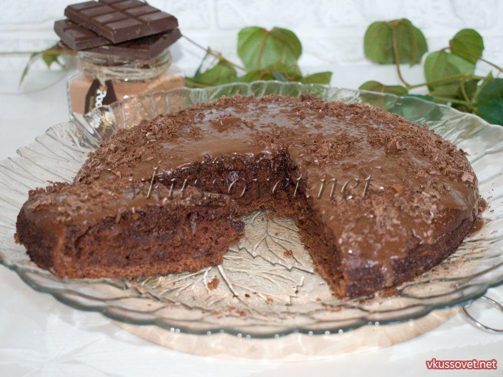 Шоколадный пирог без яиц рецепт с фото