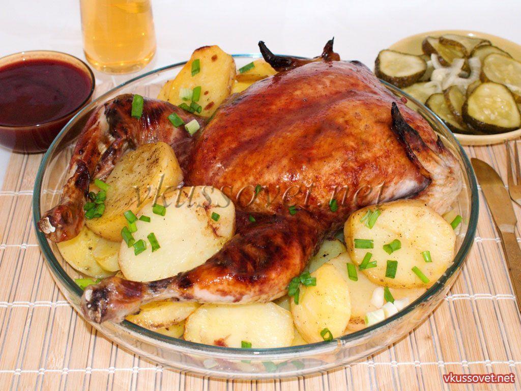 Курица в духовке с соусом бешамель рецепт