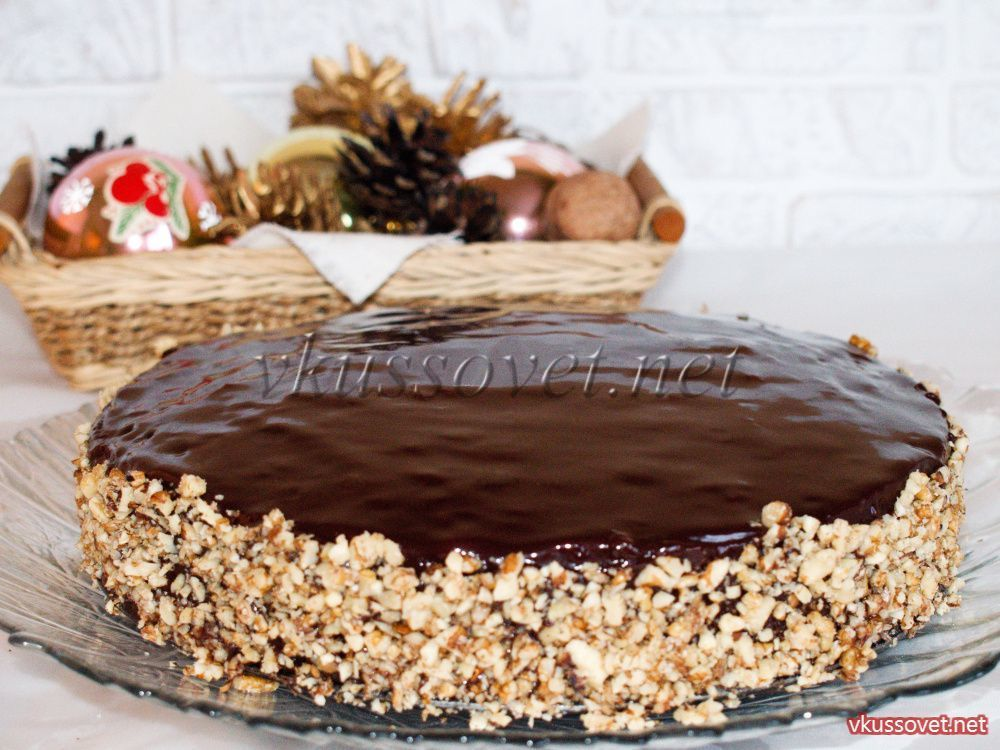 Шоколадный бисквитный пирог рецепт с фото