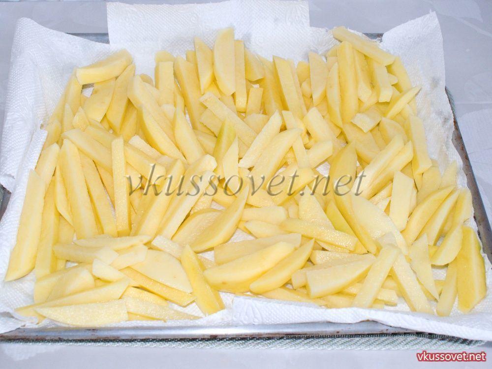 Как сделать картошку фри дома без масла