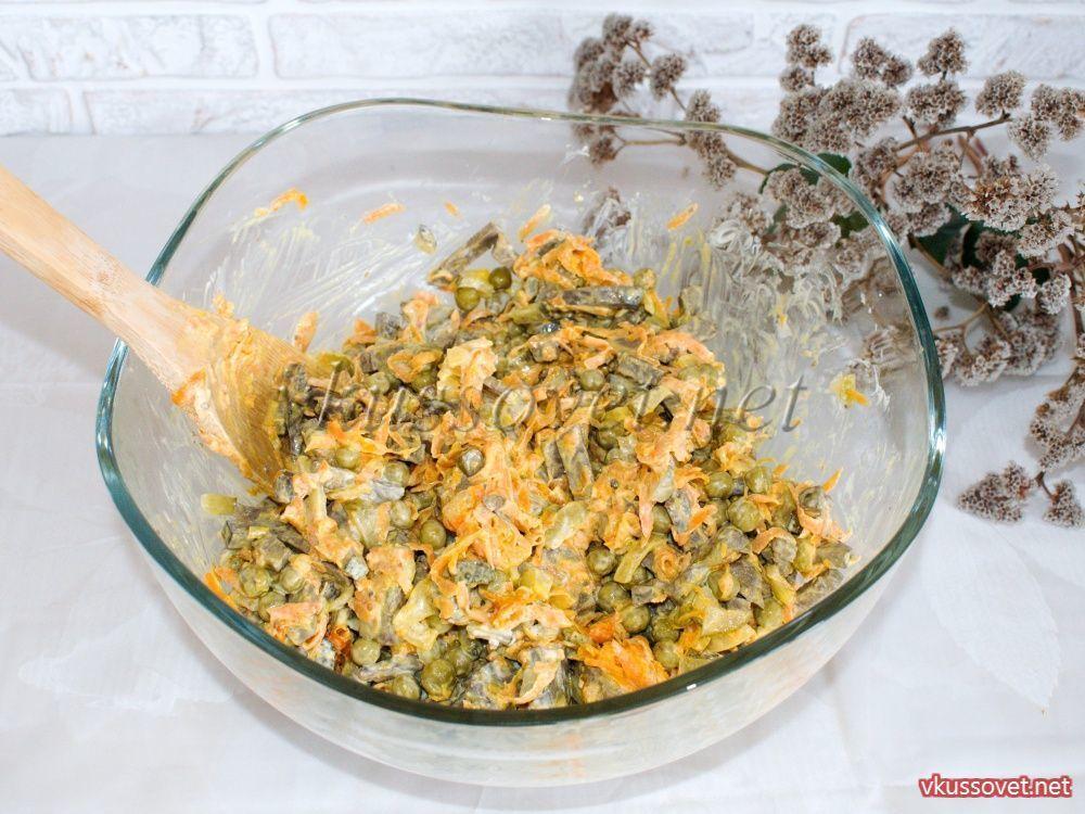 салат обжорка пошаговый рецепт с фото