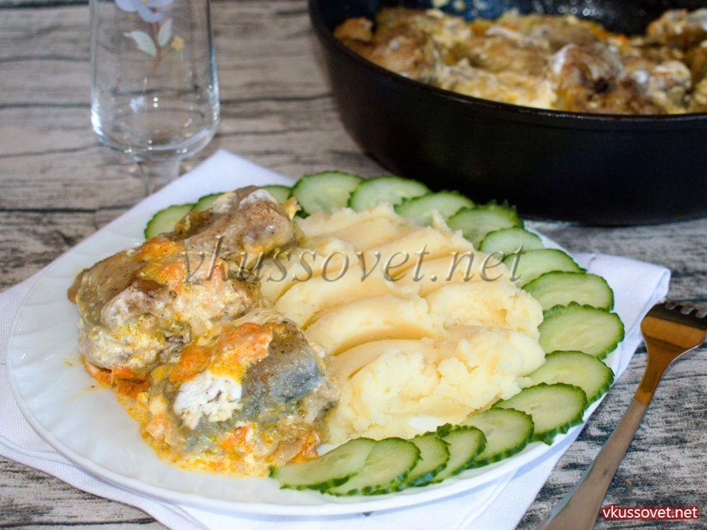 Как приготовить рыбу минтай вкусно на сковороде в сметане ...