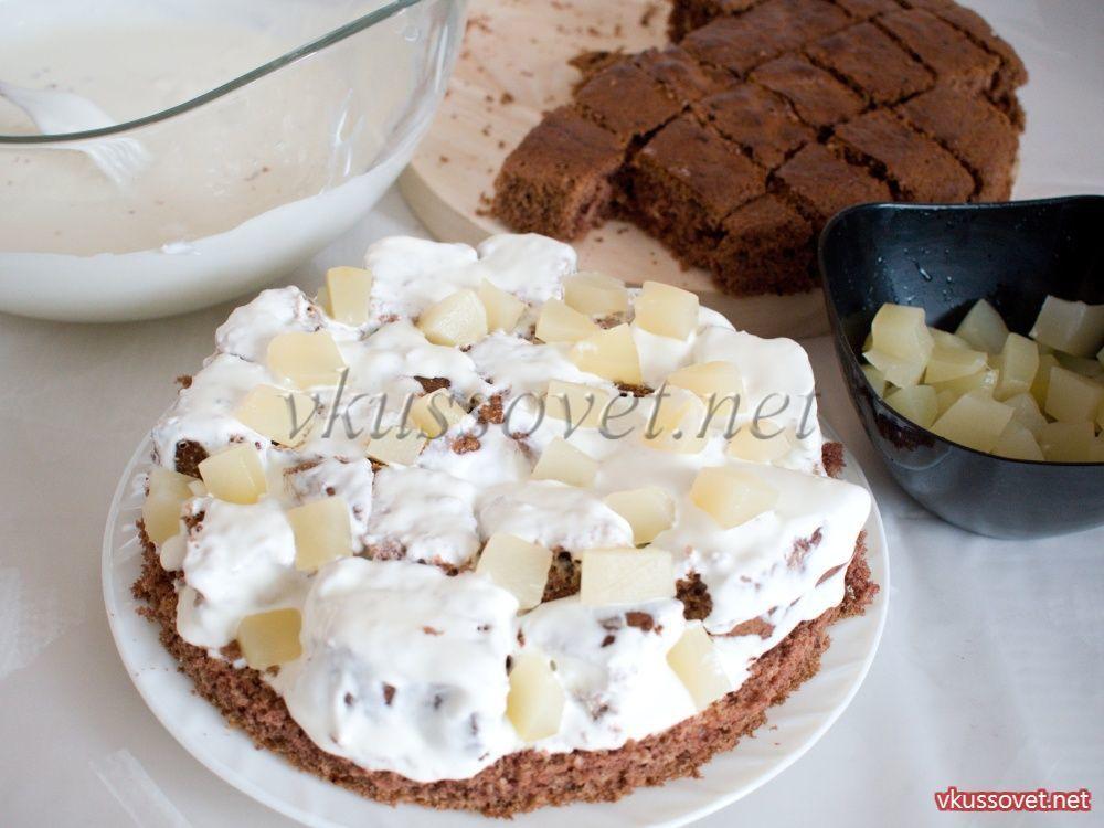 Торт панчо с ананасами пошаговый рецепт с в мультиварке