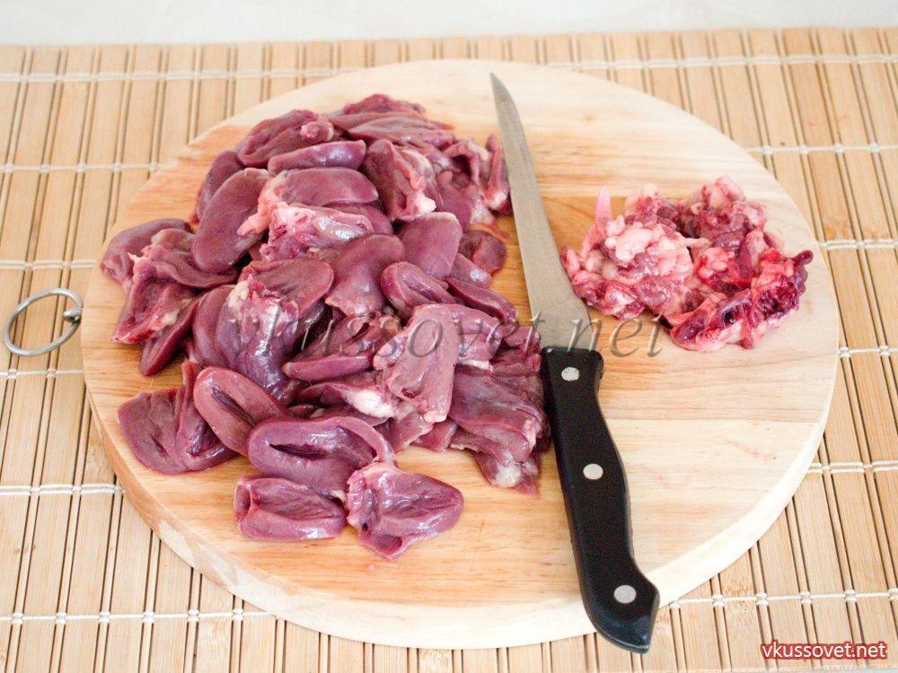 Сердца куриные рецепт с пошаговым