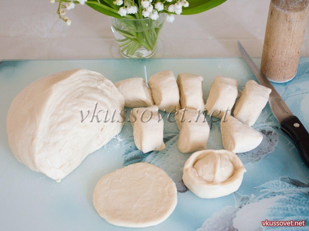 Тесто на манты заварное рецепт с пошагово