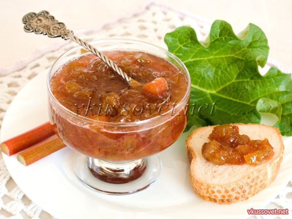 Варенье из ревеня и апельсина рецепт