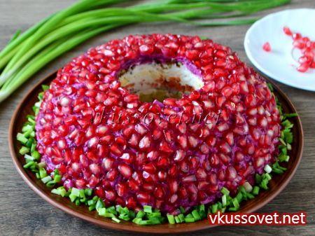 Салат гранатовый браслет салат рецепт со 24