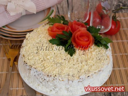 Как сделать печеночный торт рецепт с фото пошагово 636