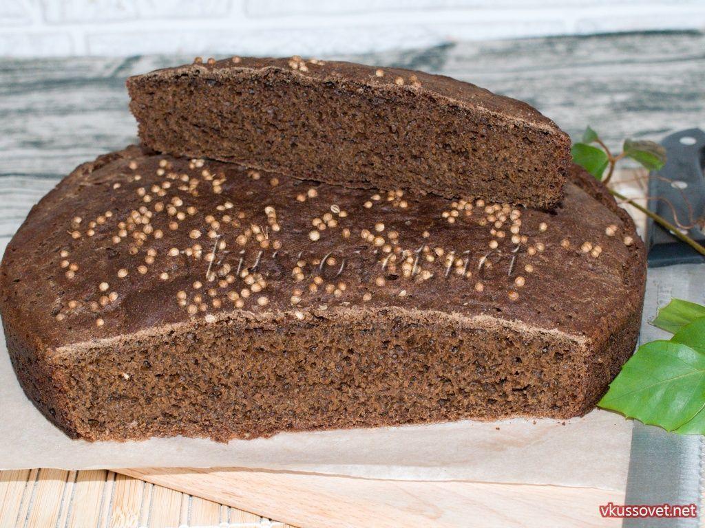 Хлеб бородинский рецепт в домашних условиях 390