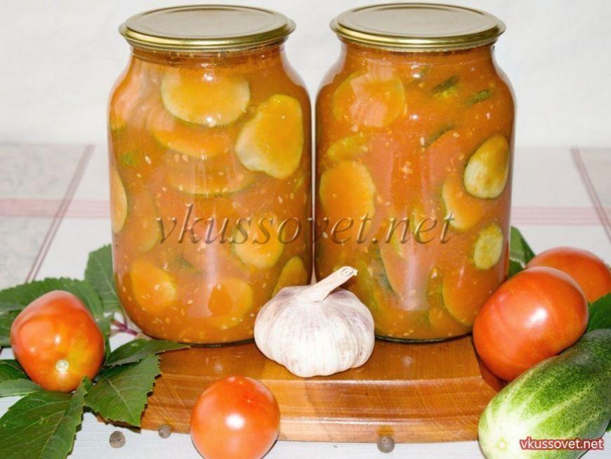 Огурцы в томатном соке