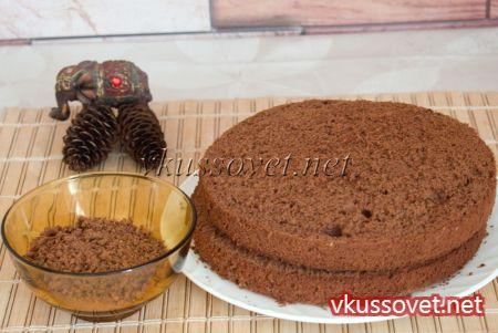Шоколадный торт с кремом из вареной сгущенки