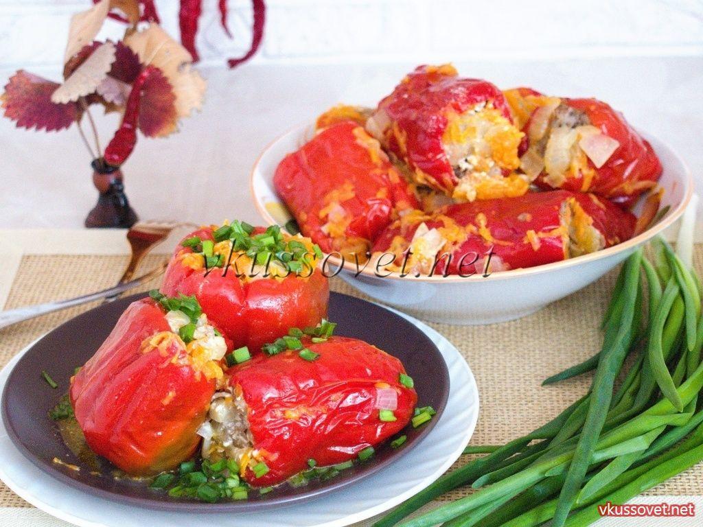 Фаршированные перцы пошаговый рецепт подлив