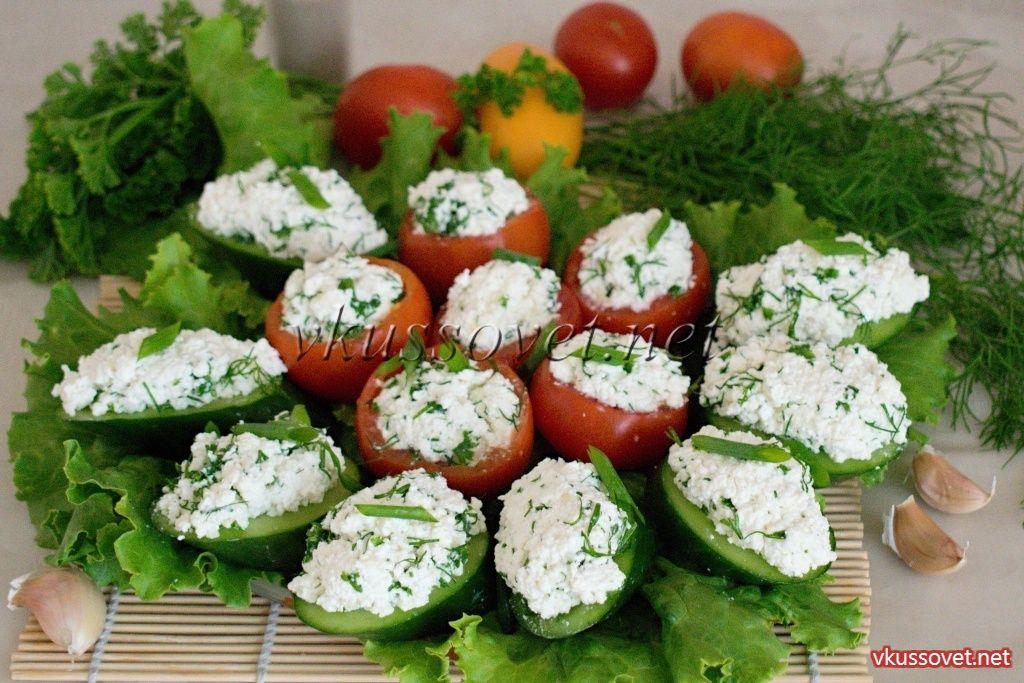 Творожная закуска с зеленью и чесноком